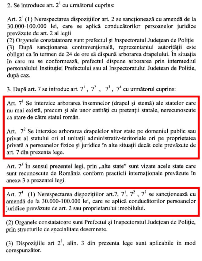 estras din Proiectul de lege pentru modificarea si completarea Legii 75/1994
